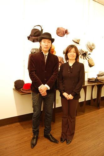 帽子展示会の様子1
