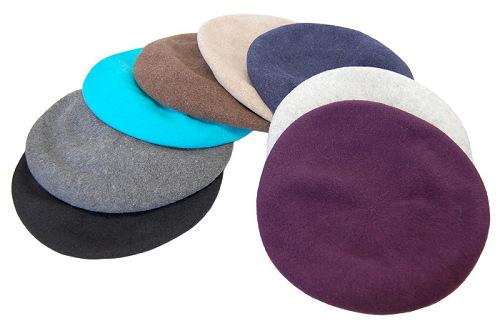 帽子の材料:ウールフェルトのベレー型