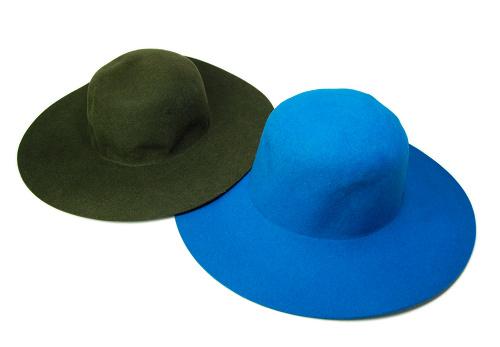 帽子の材料:キャペ型の帽体