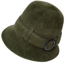 帽子の材料:ファーフェルト(ベロア)のクロッシェ