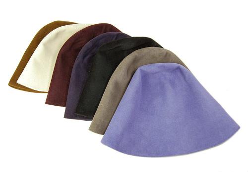 帽子の材料:ベル型の帽体