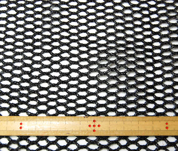 帽子の材料:黒のチュール10